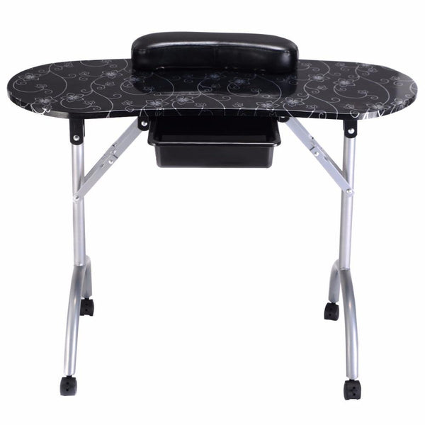 Manicure table nail portable station desk spa beauty salon furniture equipment modern folding