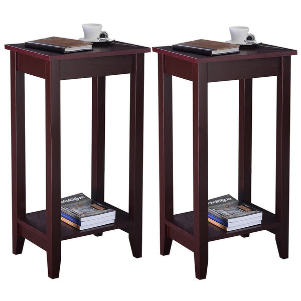 End table set of 2 coffee stand night tall side accent furniture modern home wooden storage