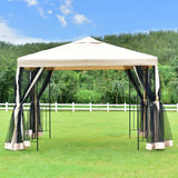 Tent 10'x10' gazebo canopy shelter patio wedding party outdoor awning with netting