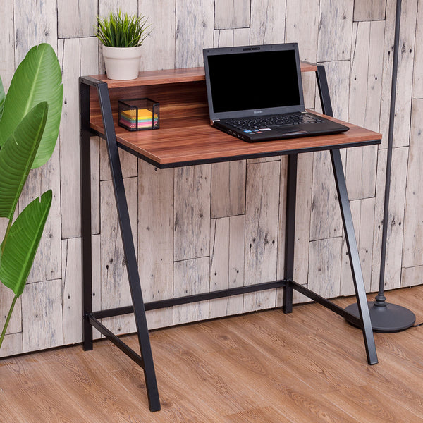 2 Tier Computer Desk Modern PC Laptop Table Study Writing Wooden Furniture Home Office Workstation