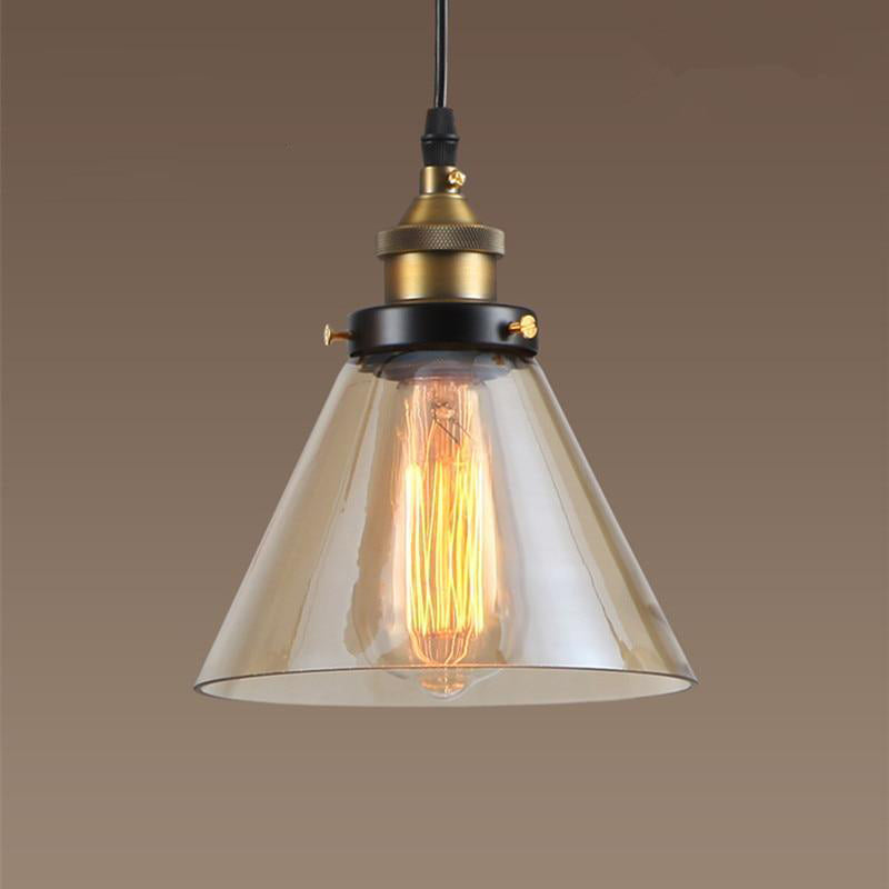 Pendant lights amber glass lighting fixtures retro kitchen island hotel bar office antique mini led ceiling lamp modern