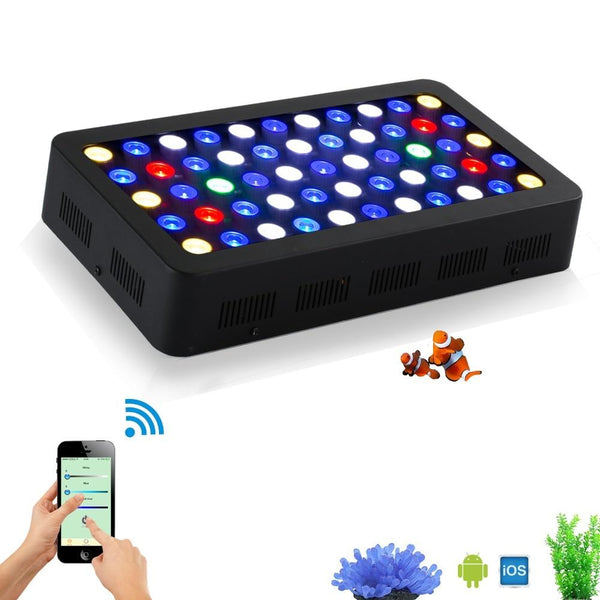 LED aquarium light full spectrum 165w wifi dimmable moonlight aquarium lighting lamp for reef coral fish