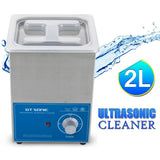 Ultrasonic cleaner 2l 220/240v timer setting stainless tank bath for pcb jewelry glass