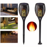 Solar flame light LED 6pcs flicker garden lawn lamp ip65 waterproof pathes decorative for outdoor indoor