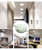 "LED panel lamp 20 pack diameter 6.771""""x1.575"""" 12w 11.811""""x1.575"""" 24w round surface mounted 6500k ceiling down"