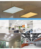 "LED panel light 4 pack dimmable 40w 23.622""""x23.622"""" recessed ceiling ac100-277v 6000k square lamp"