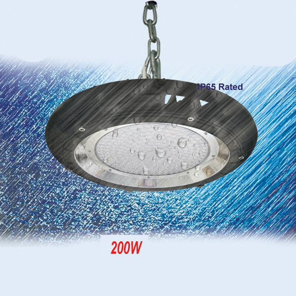 LED high bay light 200w ufo industrial lighting with ul dlc list ac100-277v 5 years warranty