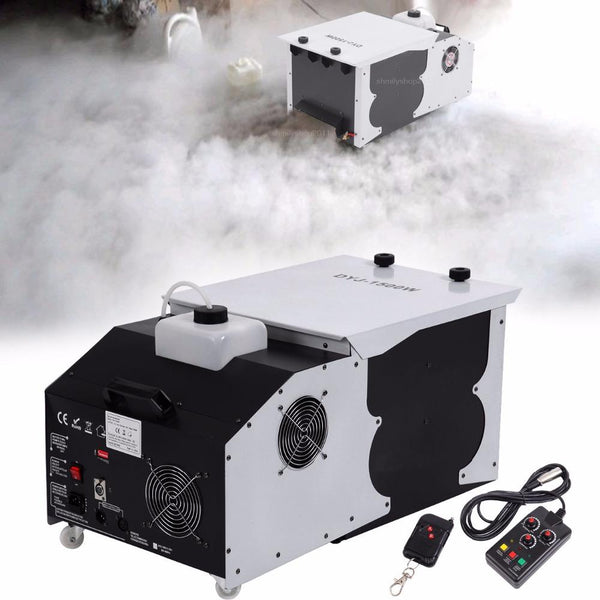 Fog machine 1500w low laying smoke dmx dry ice effect stage lighting for xmas party dj disco wedding