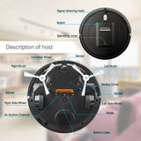 Robot vacuum cleaner kk290a sweeping 500pa suction 3 cleaning mode 5cm anti-falling anti-collision robotic