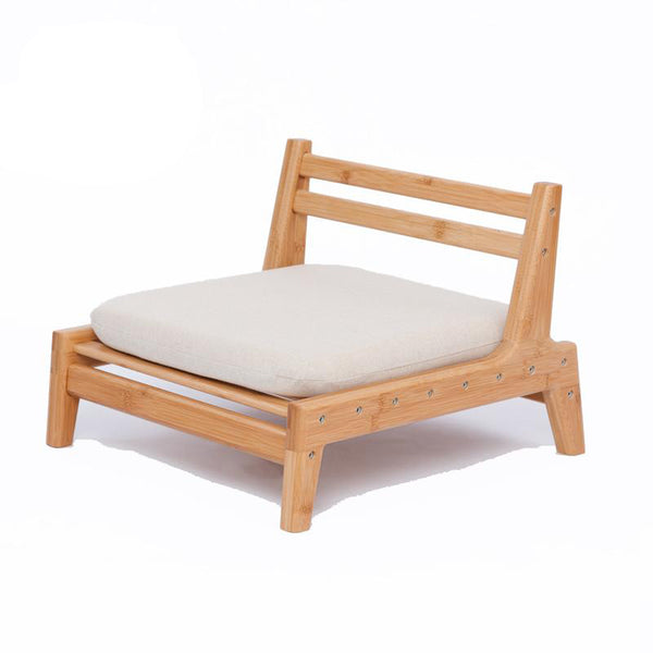 Bamboo chair meditation japanese style with cushion assemble backrest floor seats living room furniture