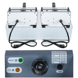 Deep fryer 5000w electric 11l dual tanks commercial frying machine home use stainless steel double basket