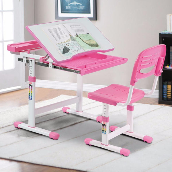 Children's furniture set desk chair height adjustable set multifunctional study drawing modern