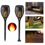Solar powered light flame LED 4pcs lamps landscape flickering lampgarden lawn decoration outdoor/indoor
