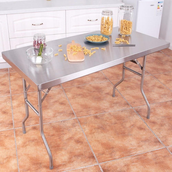 "Work table details about stainless steel folding 48"""" l x 24"""" w 484lbs capacity commercial home furniture"