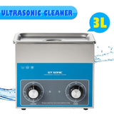 Ultrasonic cleaner with powerful transducer heater large tank capacity for cleaning off dirt dust smears