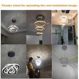 Chandelier LED light modern crystal chandeliers plafondlamp lighting pendant hanging ring fixture