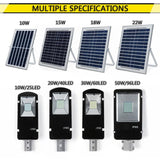 LED path light solar powered mising 10/20/30/50w outdoor waterproof wall street flood lamp for garden yard 3 working modes