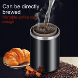 Electric coffee maker portable size rechargeable automatic usb charging stainless steel cup machine bottle