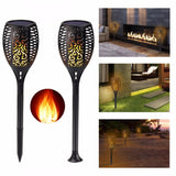 Solar LED flame light 2pcs powered flickering lamp landscape garden lawn decoration outdoor/indoor