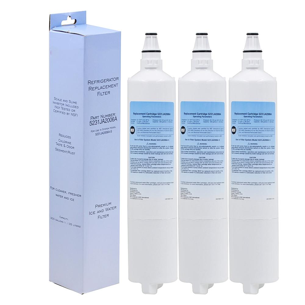 Water purifier refrigerator filter replacement household 3 pcs/lot
