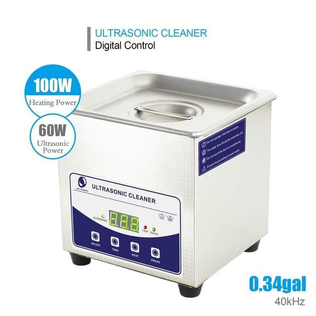 Ultrasonic cleaner bath digital 1.3l 2l 60w-200w degas