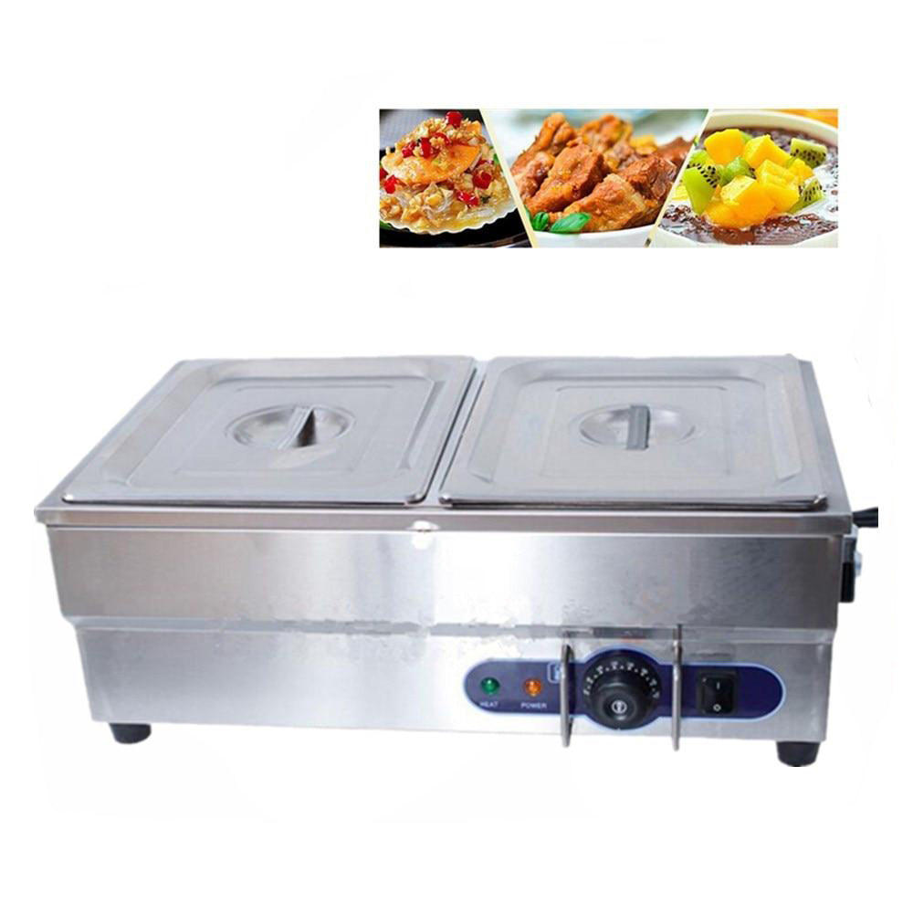 Food warmer electric price commercial 220v 2 pots with tap for kitchen appliance