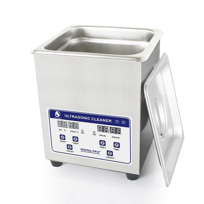 Ultrasonic bath cleaner digital 2l 60w solution with heater coins nail tool part cleaning machine