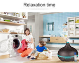 Essential oil diffuser 550ml remote control wood grain mist humidifier ultrasonic aroma office home living yoga