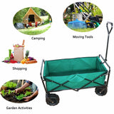 Folding camping wagon garden cart outdoor canvas fabric beach sport picnic heavy duty shopping