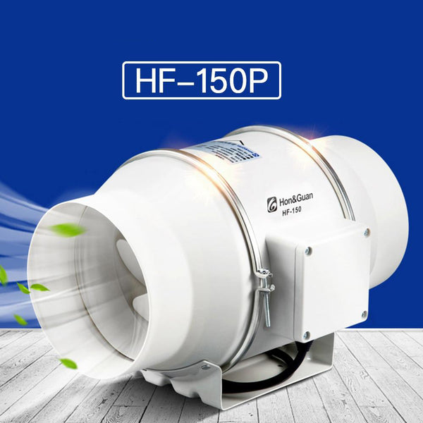 Fan 6'' inline duct exhaust mixed flow hydroponic air blower for home ventilation bathroom vent 312 cfm