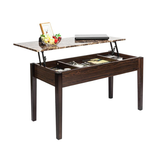 Liftable coffee table modern functional tea hidden compartment drop