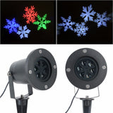 Laser projector christmas white shower LED light stage lighting effect for garden party mayitr