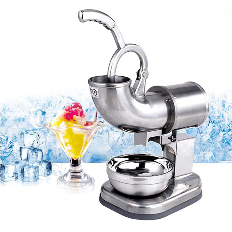 Ice crusher machine electric commercial use 110v snow maker stainless steel food smoothie blender one year warranty