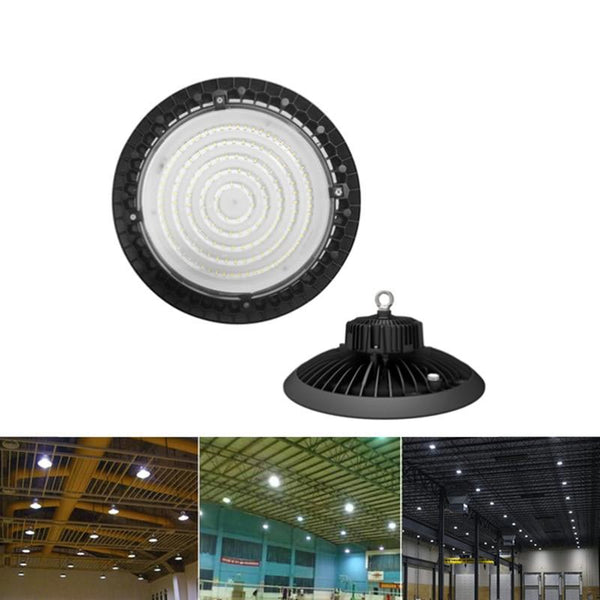 LED high bay light ultra-thin 5000k ufo 200w 150w 100w shop lights outdoor factory warehouse lighting etl listed
