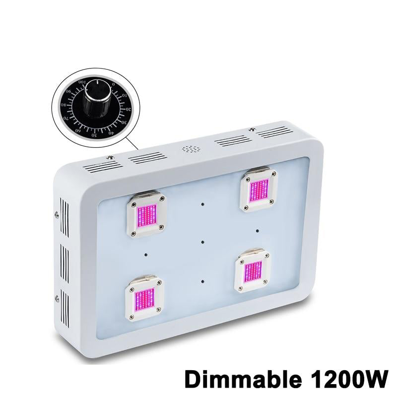 LED grow light va dimmable x4 1200w cob full spectrum indoor lights for medicinal plants veg flower in greenhouse