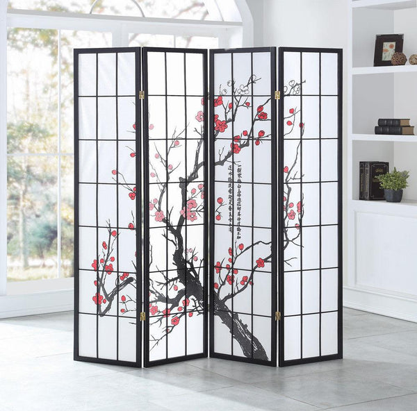 Room divider 4 panel folding privacy shoji screen home furniture