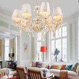 Crystal pendant lamp e14 average w h 8w lighting electroplate home 40 18000 8 modern x homdox ceiling chandelier fixture