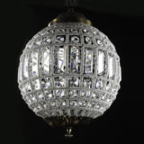 Crystal chandelier retro vintage big round french empire style led e14 modern 6 lamp for living room hotel lobby