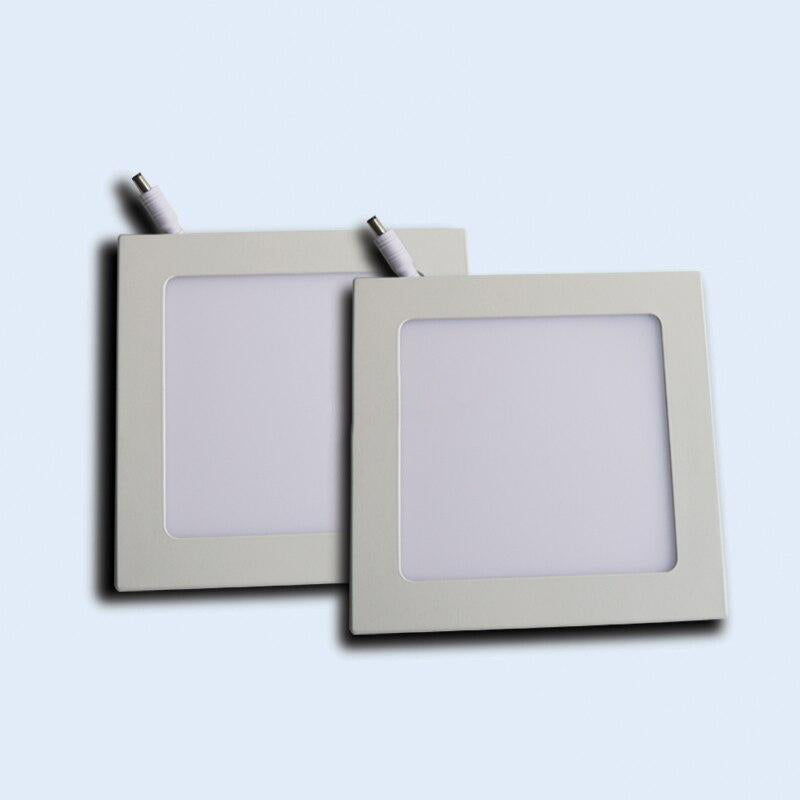 "Square LED panel light 20 pack cut-size dimension 6.102""""x6.102"""" 12w 8.071""""x8.071"""" 18w ac100-277v ultra-thin ceiling down lamp"