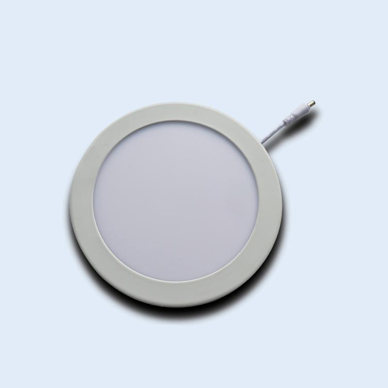 "LED panel down light cut-size diameter 6.102"""" 12w 8.071"""" 18w ceiling lamp ultra-thin round type ac 85-265v 20 pack"