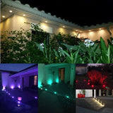 LED lights 10pcs/set 30mm 12v outdoor terrace deck stair step rail waterproof yard garden pathway patio landscape lamp