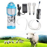 Electric milking machine 3L double head portable milk bucket cattle cow sheep coat milker 0.8gal 2 teats vacuum pump goat