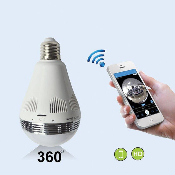View camera 1.44mm lens smart 360 sd card recording infrared night vision cctv wireless light bulb security