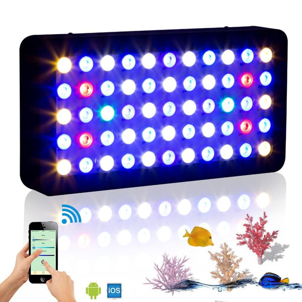 Aquarium LED lighting wifi 165w marine dimmable full spectrum for coral reef fish tank plant