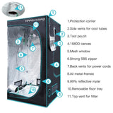 Hydro grow tent LED 1680d mars box 120*120*200 cm for hydroponics indoor system