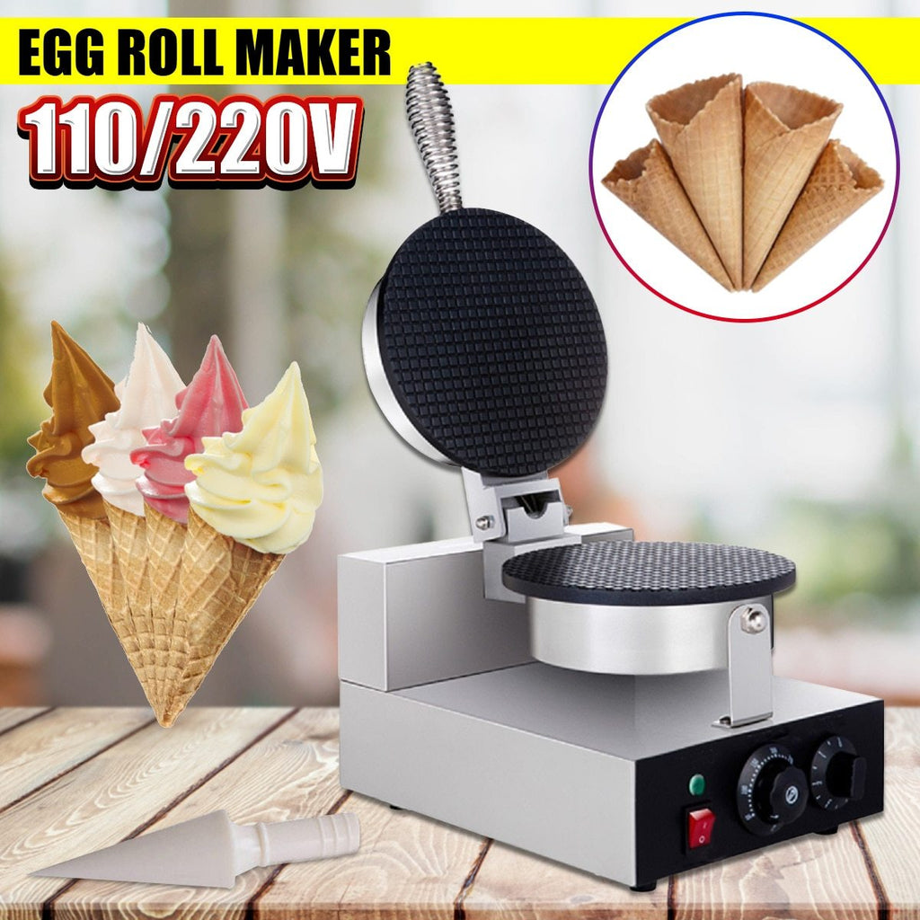 Nonstick ice cream cone 110v/220v electric commercial machine egg roll maker household diy donut wizard waffle