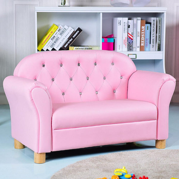 Kids sofa princess armrest chair lounge couch loveseat gift modern furniture