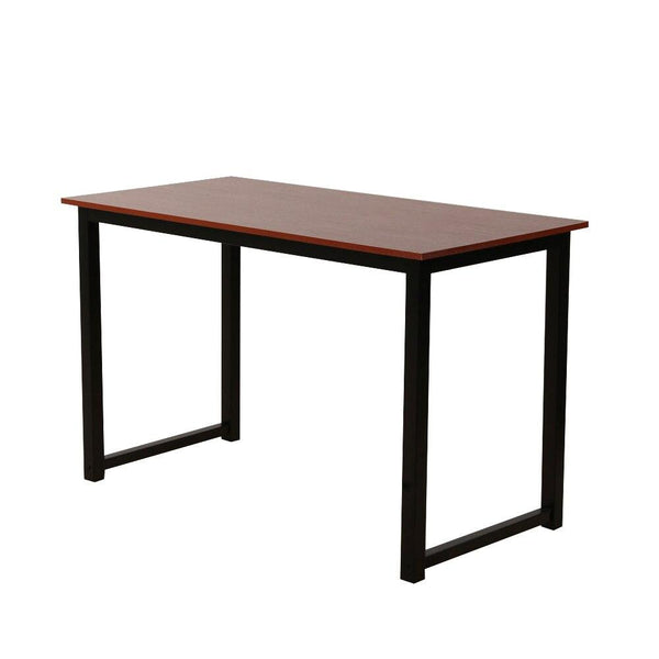 Rustic dining table iron frame wood grain veneer surface high density board drop