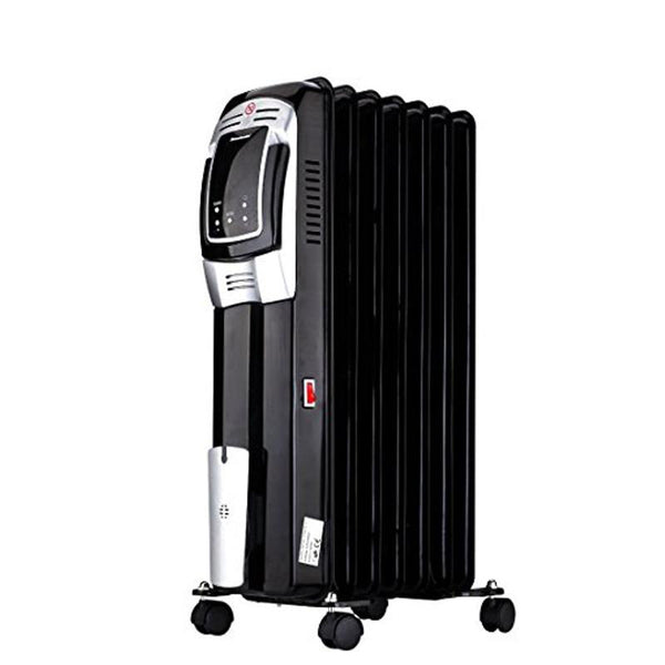 Oil heater for home 1500w electric space filled radiator thermostat with LED remote control