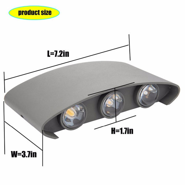 LED wall lights outdoor arc source 12w warm with source install on ip65 waterproof wall arts